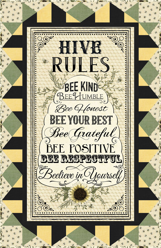Hive Rules Wall Hanging