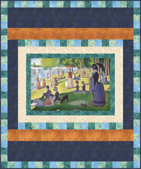 A Sunday on La Grande Jatte Pattern