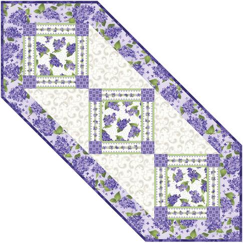 Lilac Garden Runner