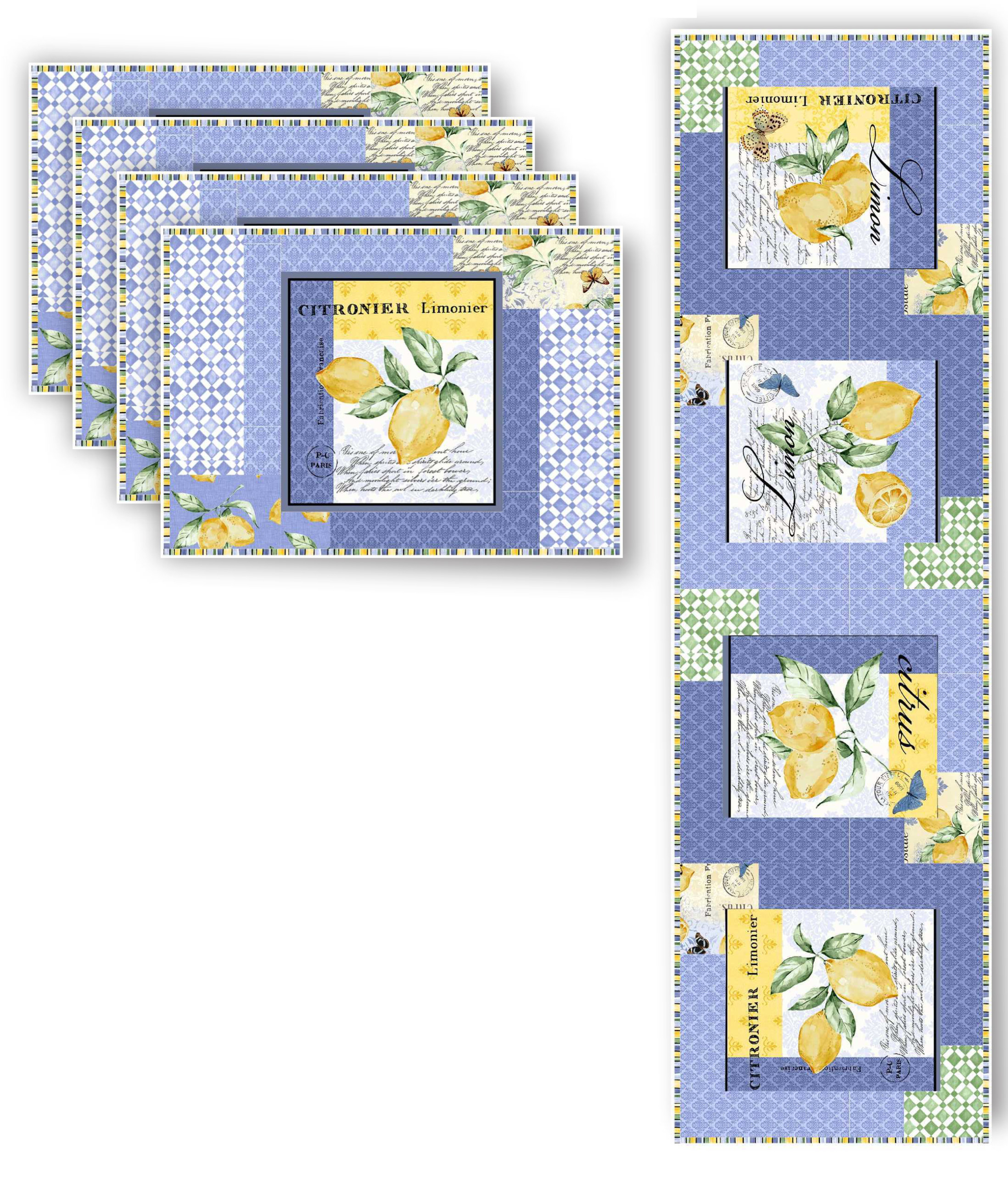 Limoncello Place Mats & Runner Pattern