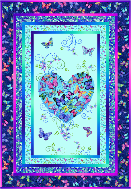 Butterfly Paradise Quilt 1