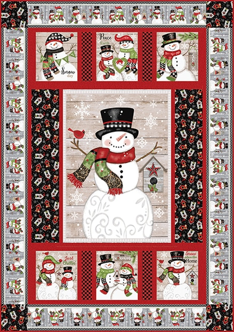 Snow Place Like Home Quilt 1