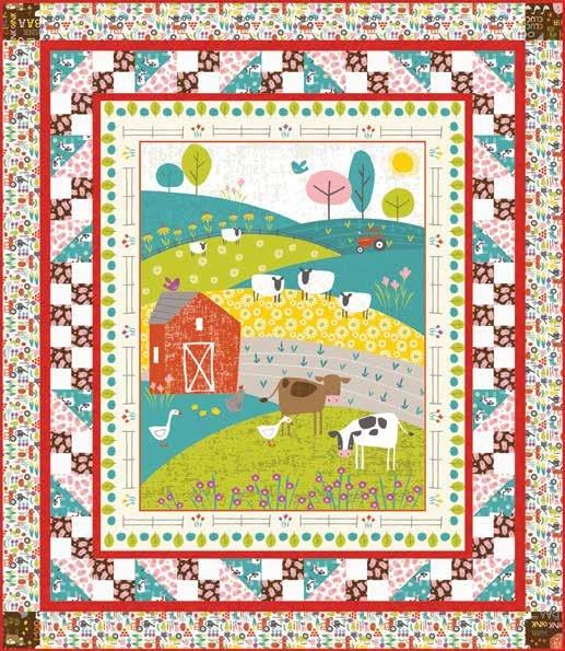 free pattern wildflower farm quilt 1