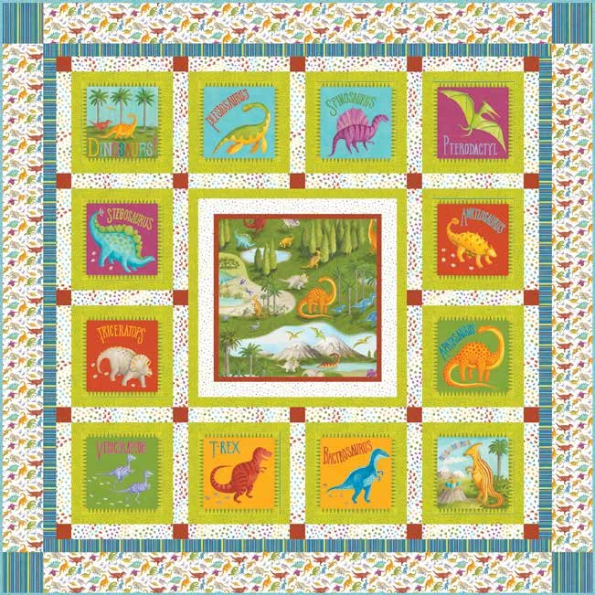 Dino Party Quilt 2