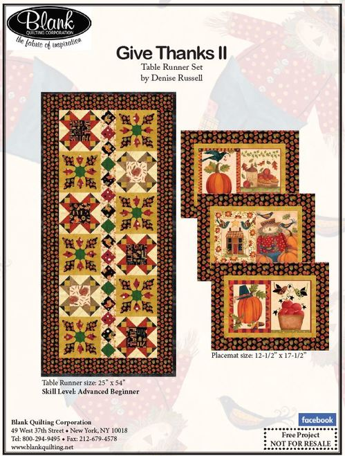 Give Thanks II Table Runner Set