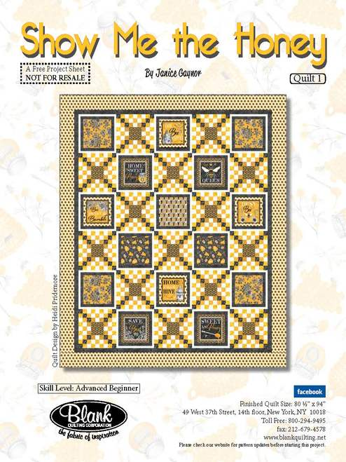 Show Me the Honey Quilt 1