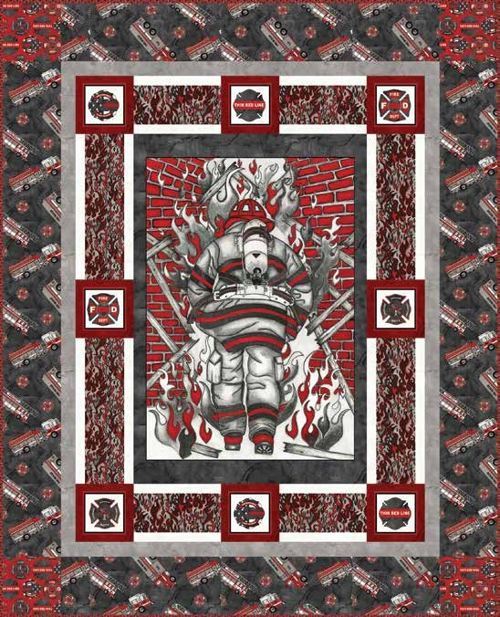 Thin Red Line Quilt 1