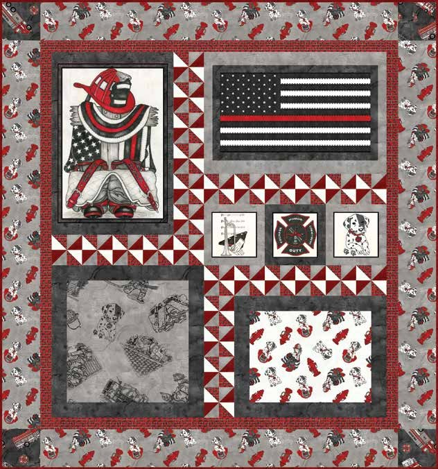 Thin Red Line Quilt 2