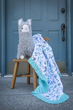 Ruffled Edge Blanket