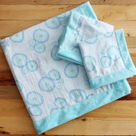 Self-Binding Baby Blanket & Lovies Pattern