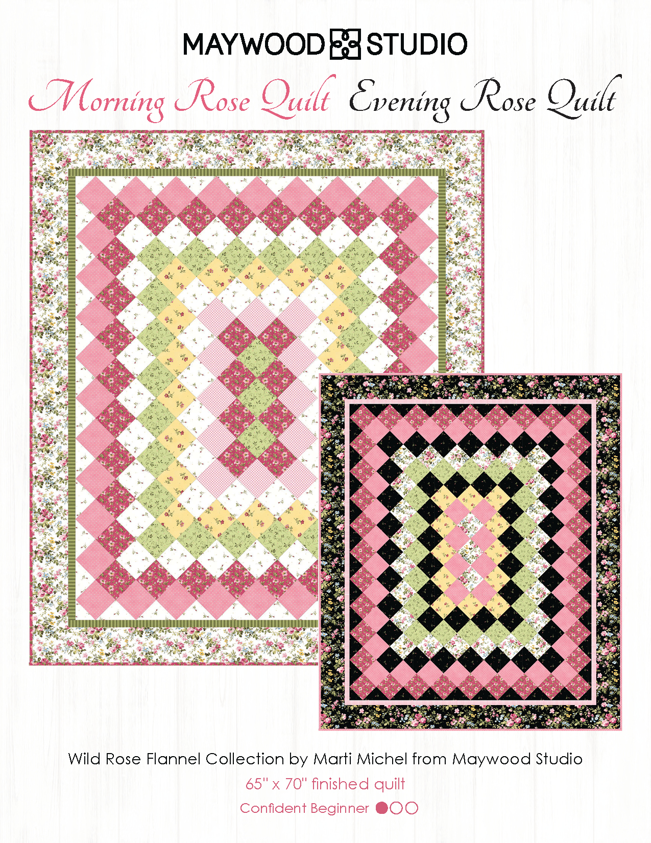 Morning Rose Quilt, Evening Rose Quilt