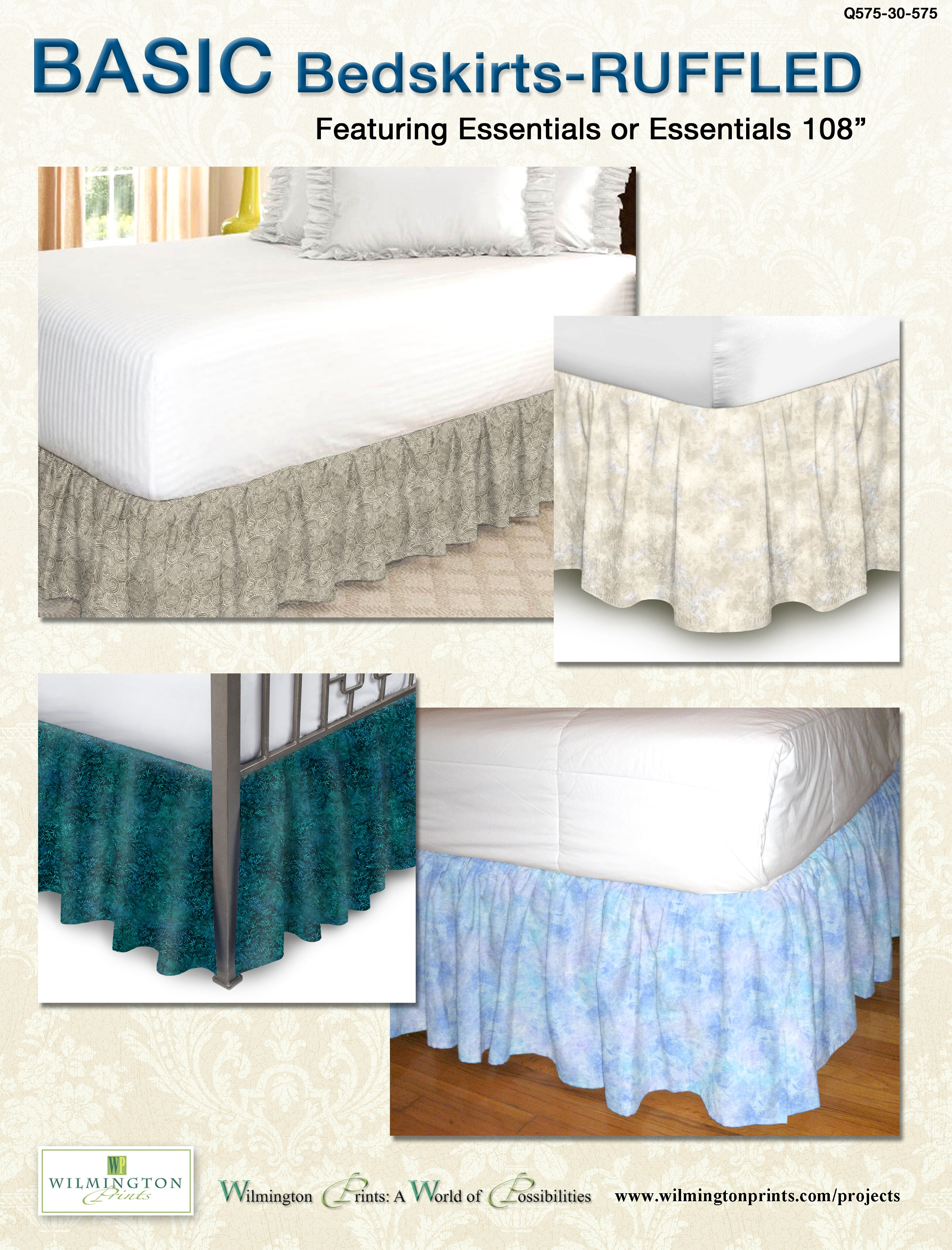 Free Pattern Basic Bedskirt Ruffled