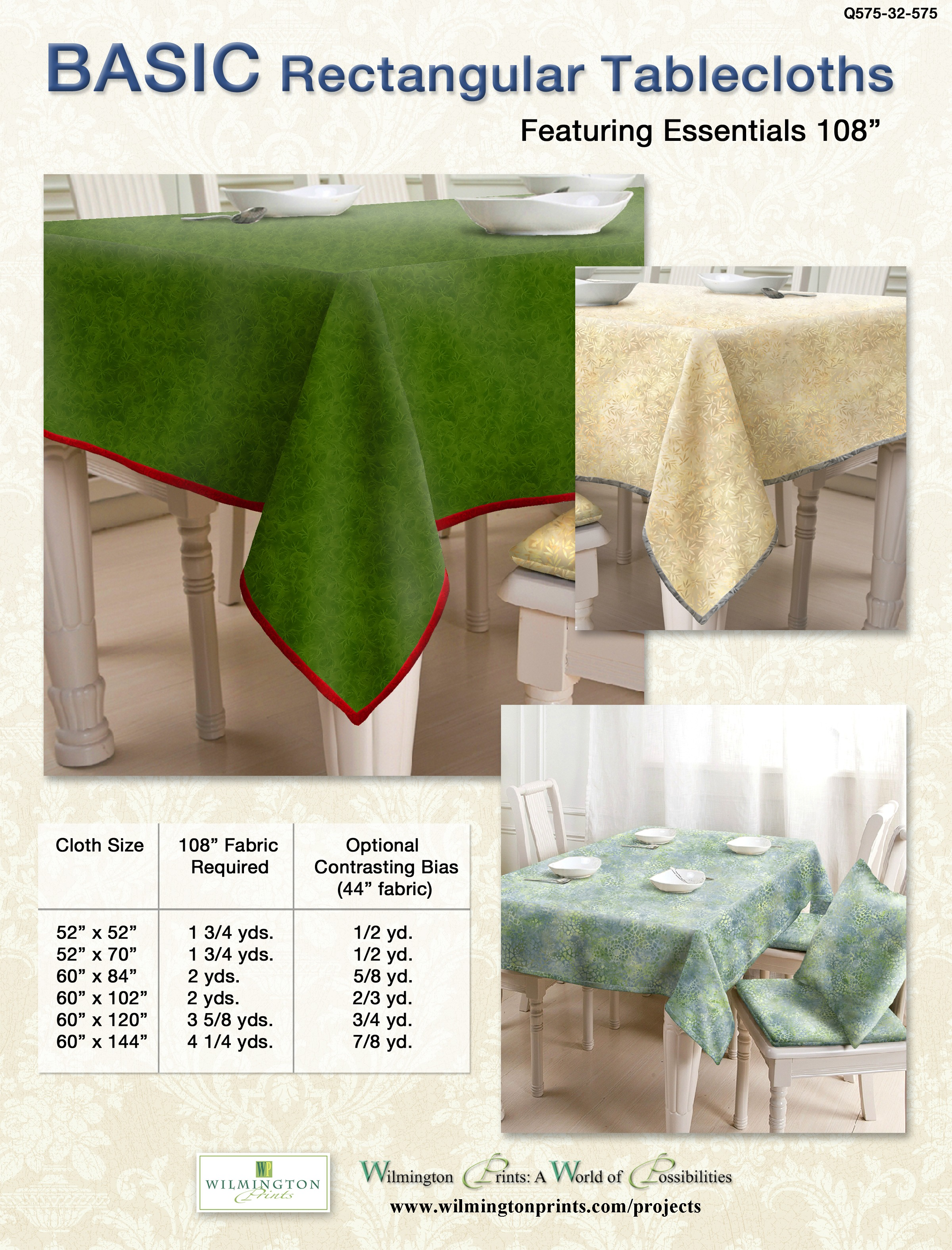 Basic Rectangular Tablecloth