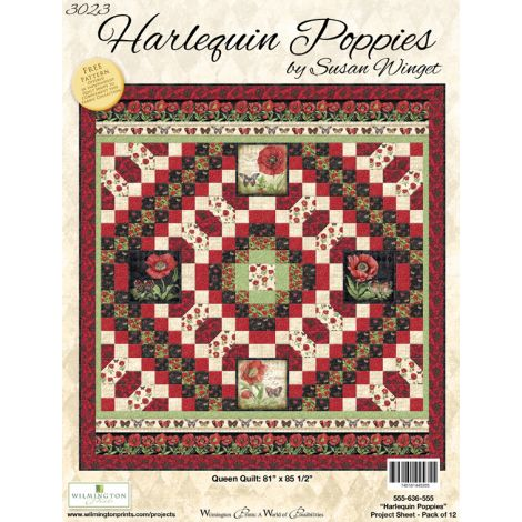 Harlequin Poppies Quilt
