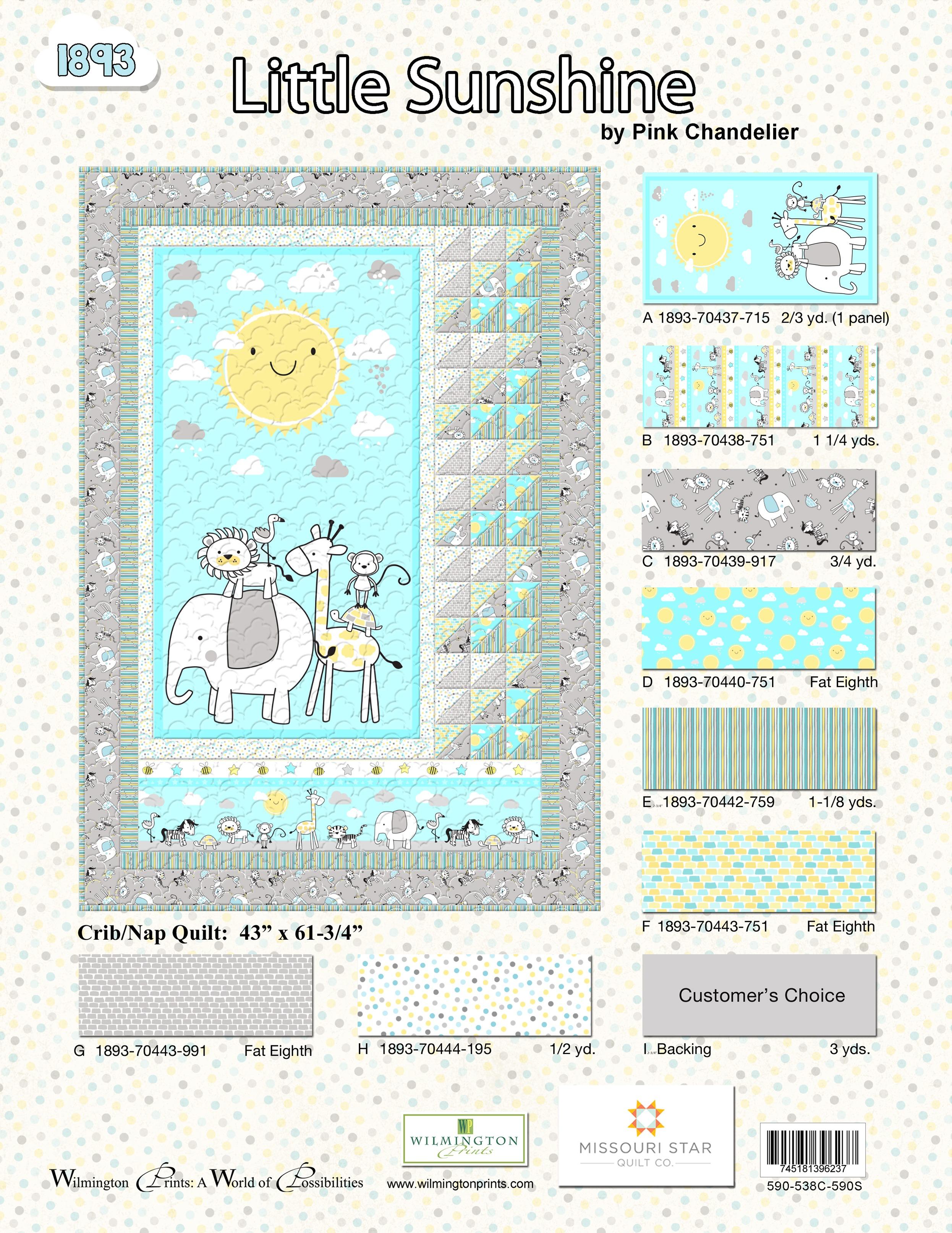 Little Sunshine Crib and Nap Quilt