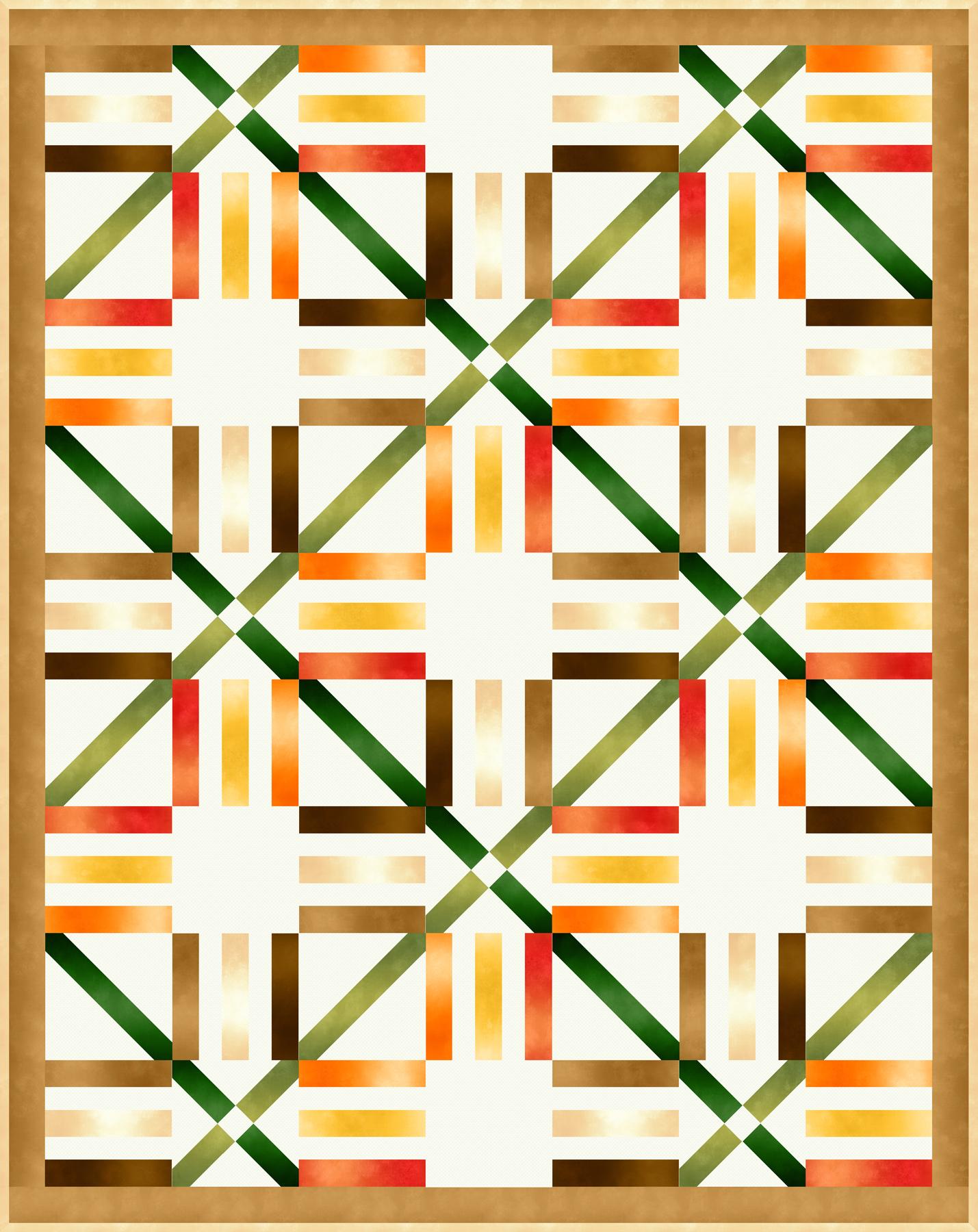 Ombre Parquet Pattern - Warm
