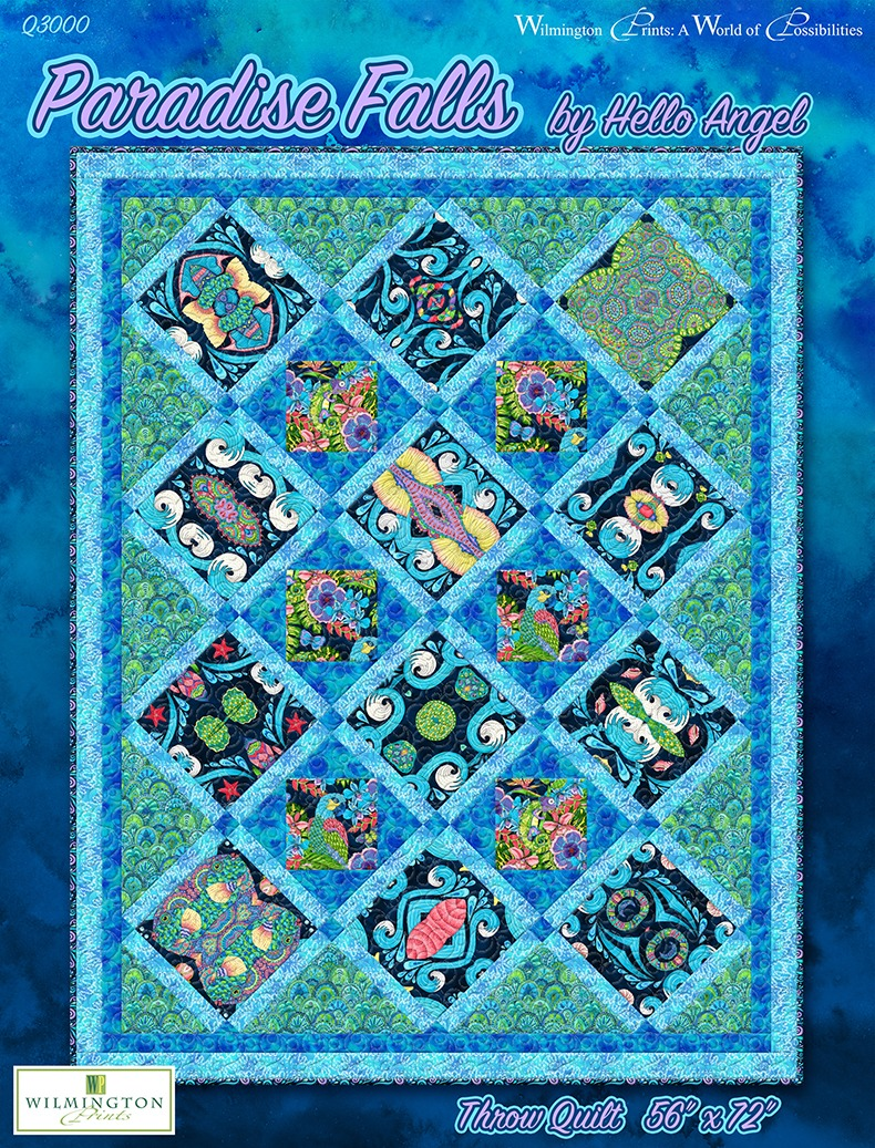 Paradise Falls Throw and Wall Quilt