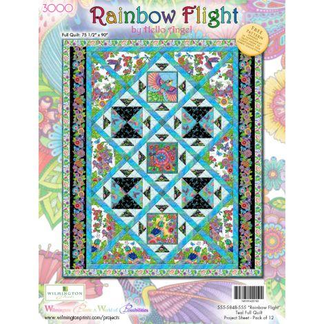 Rainbow Flight Quilt 2