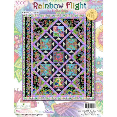 Rainbow Flight Quilt 1