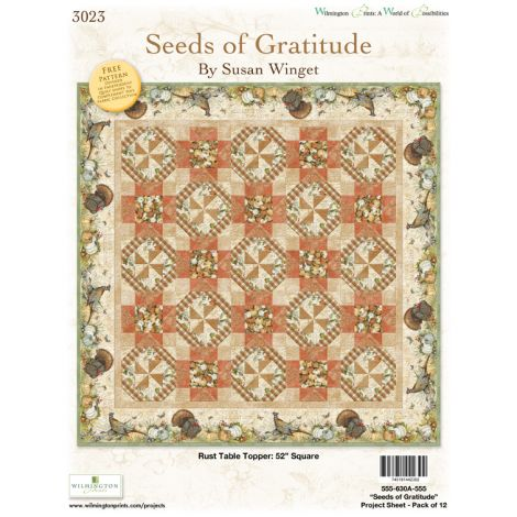 Seeds of Gratitude Table Topper - Rust