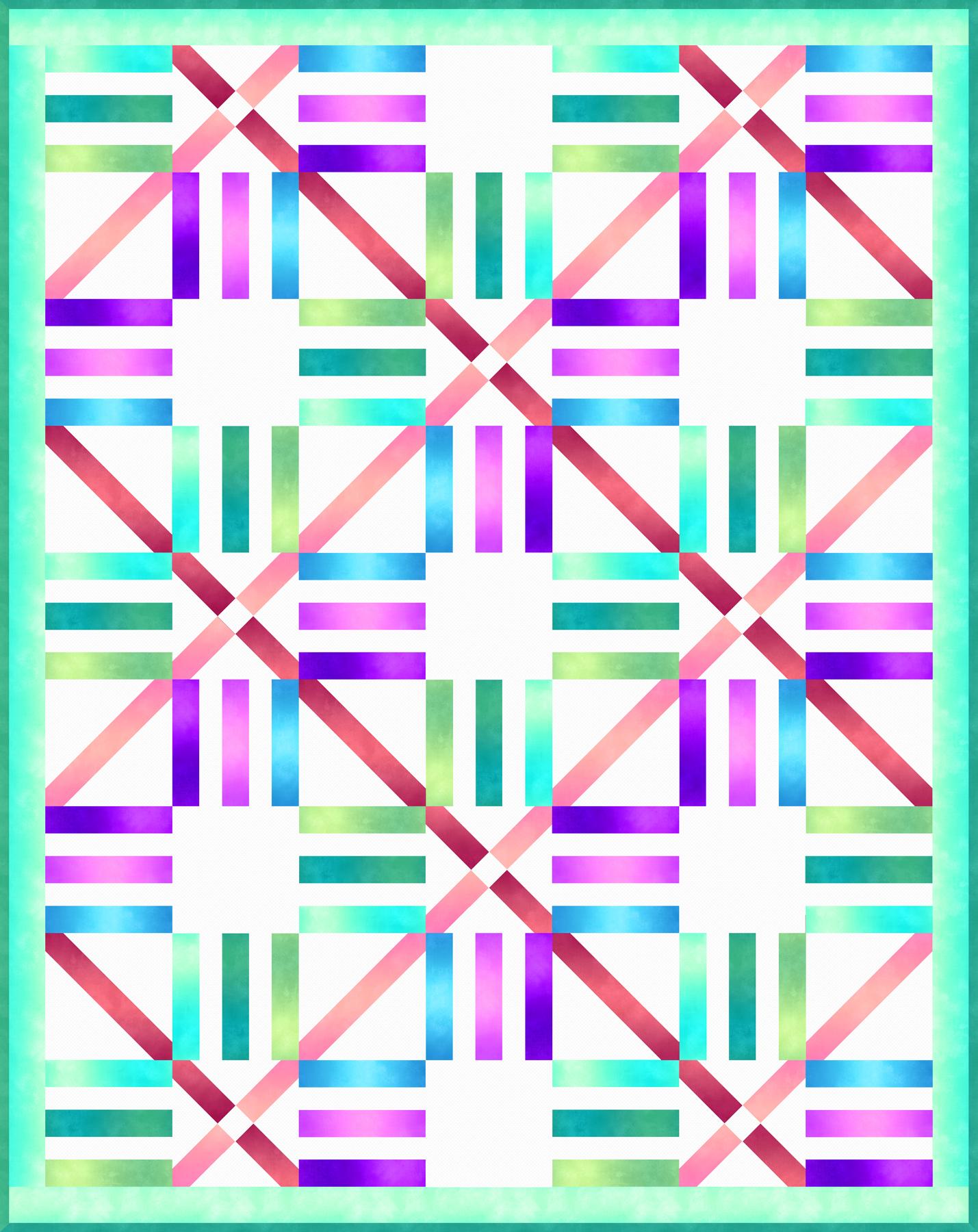 Ombre Parquet Pattern - Cool